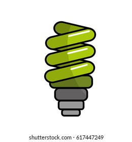 green save bulb energy icon