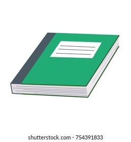 green school exercise book