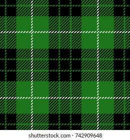 Green Scottish Woven Tartan Plaid Seamless Pattern