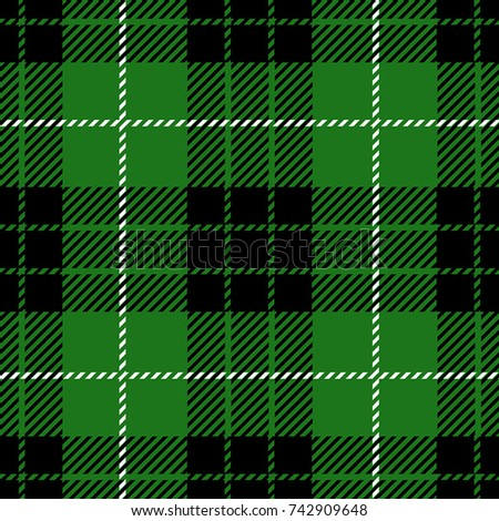5979818ee5086 Green Scottish Woven Tartan Plaid Seamless Stock Vector (Royalty ...