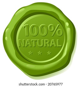 green sealing wax,  one hundred per cent natural