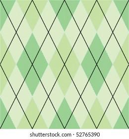 Green seamless argyle pattern