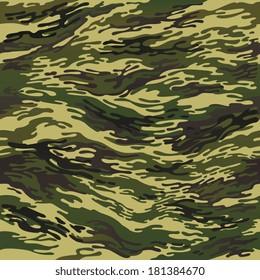 green seamless camouflage pattern