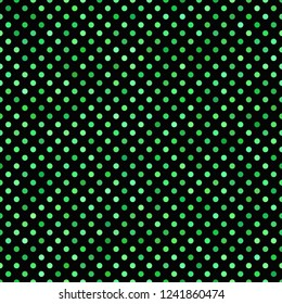 Green seamless dot pattern background - vector graphic design