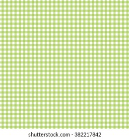 green seamless gingham pattern vector illustration