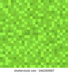 Green seamless pixel background. Pixel background for packaging. Gaming concept. Vector illustration. EPS 10