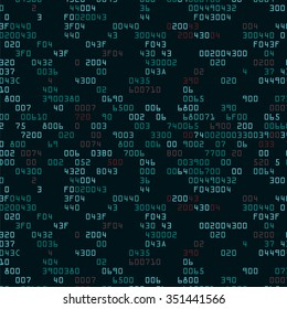 Green security background with HEX-code. Vector illustration