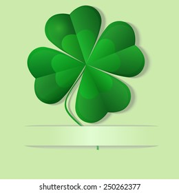 Green shamrock, four leaf clover, well layered vector illustration