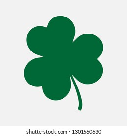 Green shamrock icon. Luck vector.