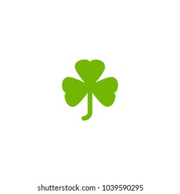 Green Shamrock illustration isolated on white. Clover leaf. St Patrick day vector. Irish symbol
