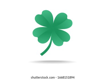 Green shamrock leaf with concept vector background. You can use shamrock leaf to design banner websites, mobile phones, and celebration Irish Holiday.