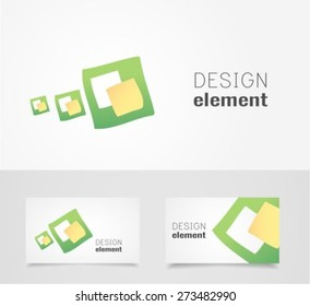 Green Shape logo design template