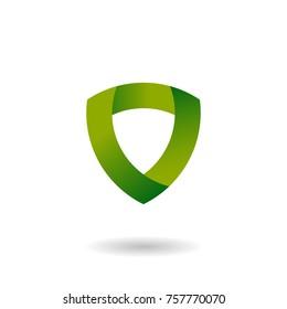 green shield logo design template with modern concept design vector eps 10
