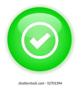 Green signle checked button