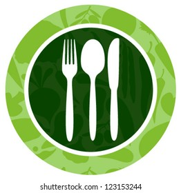 green silhouette vegetables food icon