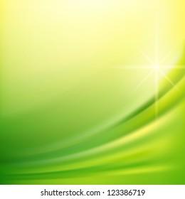 Green silk fabric for backgrounds, mesh vector illustration eps10