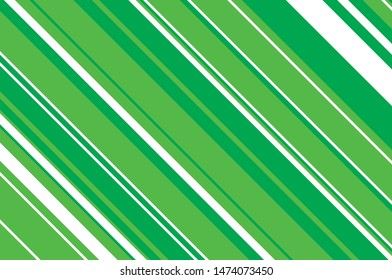 Green slanted strips of different thicknesses. Vector illustration