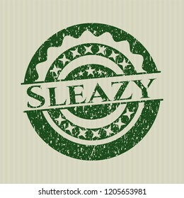 Green Sleazy distress rubber stamp