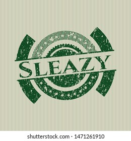 Green Sleazy distressed rubber stamp