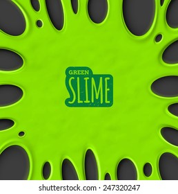 Green slime background, eps 10