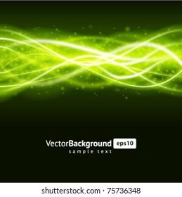 Green smooth waveform vector background. Eps 10.
