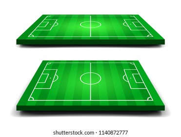 Green soccer field. Sport template for your design. Vector illustration.