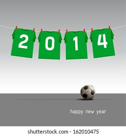 Green soccer jerseys on the cord, wishes for the new year 2014