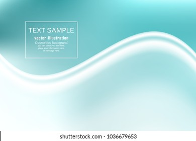 Green spaces wave abstract background - Design concept - Vector illustration