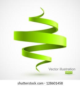 Green spiral 3D.