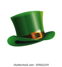 green st patrick day hat icon