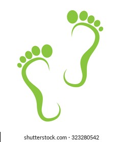 green step icon isolated on white background. vector illustration