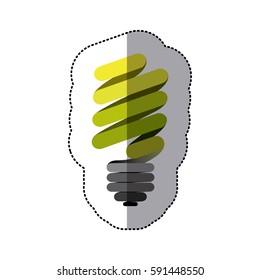 green sticker eco bulb icon, vector illustraction design