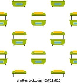 Green street kiosk pattern seamless for any design vector illustration