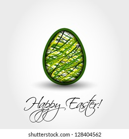 green striped egg, easter and spring cocnept,