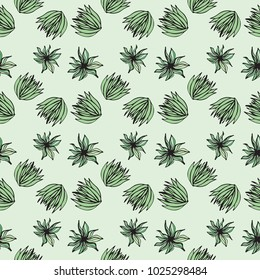 Green Succulent Inspired Overall Pattern