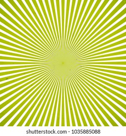 Green sun rays background with stains. Vector illustration eps 10.