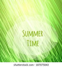 Green, sunny natural background, vector illustration. eps 10