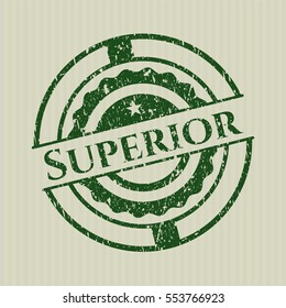 Green Superior distressed rubber stamp with grunge texture