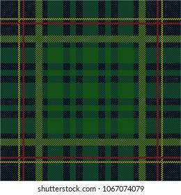 Green tartan pattern vector