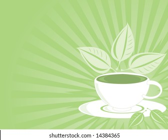 Green tea background 1