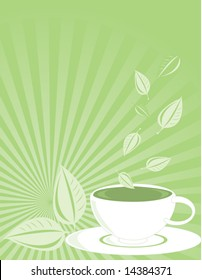Green tea background 2