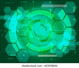 Green technology background design vector illustration.