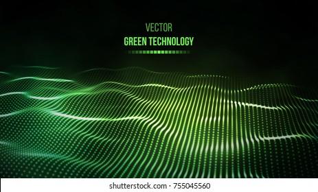 Green technology background. Green energy vector illustration eps10.
