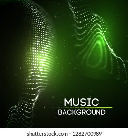 Green technology background. Futuristic vector illustration. Big data. EPS 10