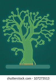 Green Technology Tree/Circuit Board