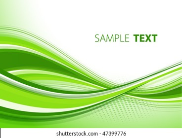 Green template. Vector