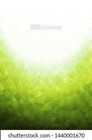 Green texture background with geometric ice pattern