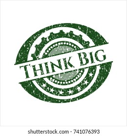 Green Think Big grunge stamp
