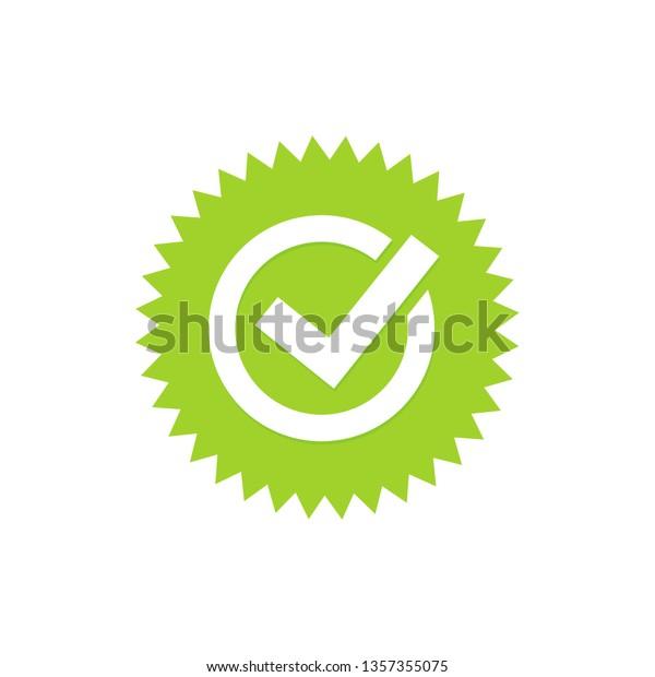 Green Tick Green Check Mark Tick Stock Vector (Royalty Free