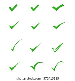green tick for web design